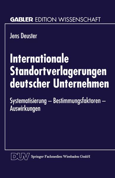 Internationale Standortverlagerungen deutscher Unternehmen - Coverbild
