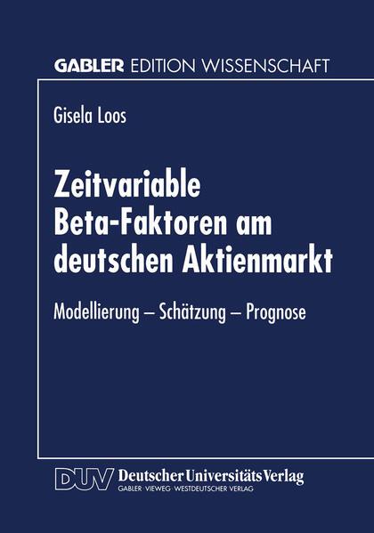 Zeitvariable Beta-Faktoren am deutschen Aktienmarkt - Coverbild