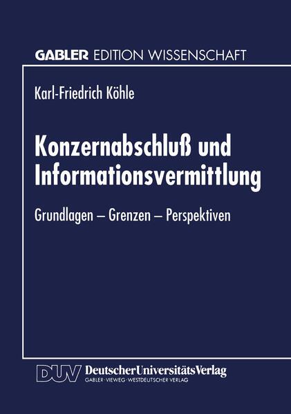Konzernabschluß und Informationsvermittlung - Coverbild