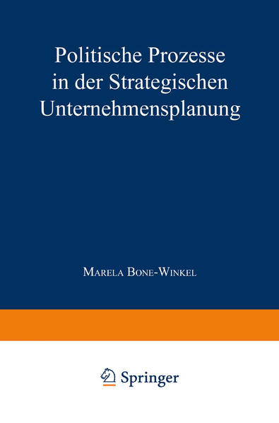Politische Prozesse in der Strategischen Unternehmensplanung - Coverbild
