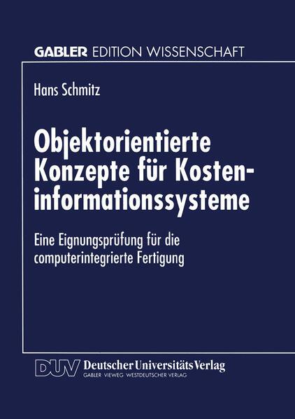 Objektorientierte Konzepte für Kosteninformationssysteme - Coverbild
