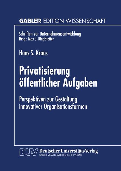 Privatisierung öffentlicher Aufgaben - Coverbild