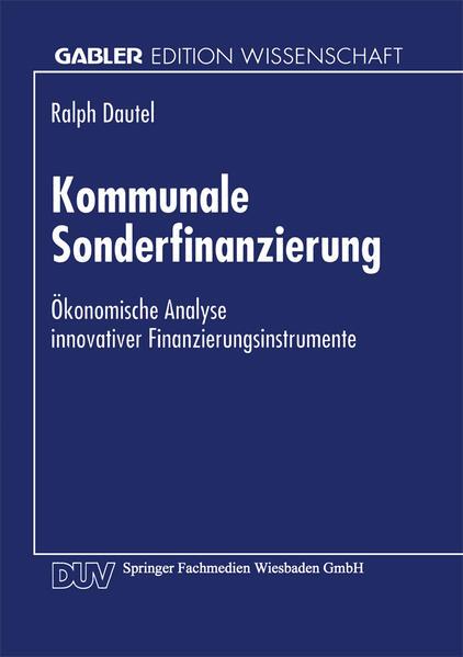 Kommunale Sonderfinanzierung - Coverbild