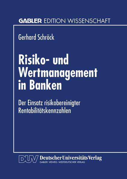 Risiko- und Wertmanagement in Banken - Coverbild