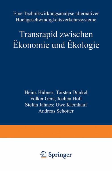 Transrapid zwischen Ökonomie und Ökologie - Coverbild