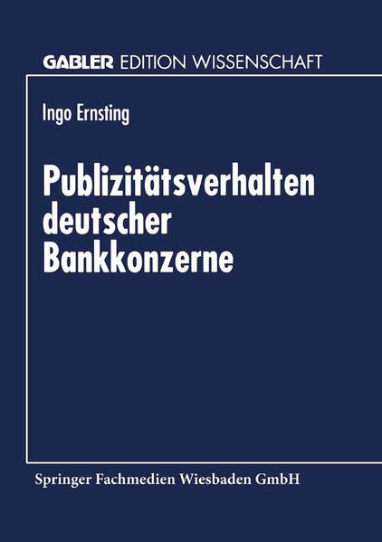 Publizitätsverhalten deutscher Bankkonzerne - Coverbild
