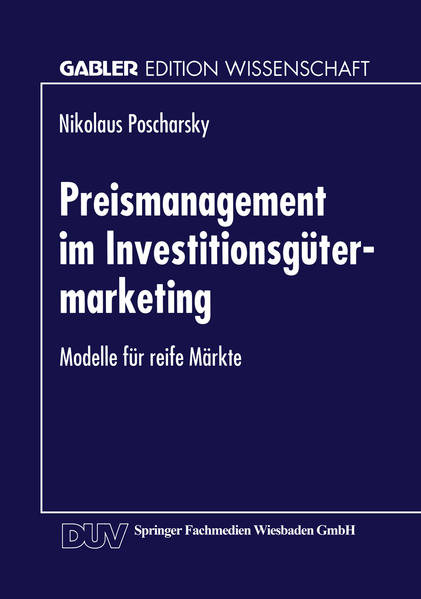 Preismanagement im Investitionsgütermarketing - Coverbild