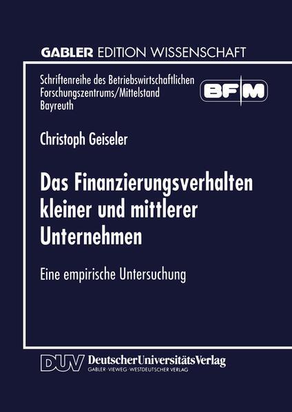 Das Finanzierungsverhalten kleiner und mittlerer Unternehmen - Coverbild
