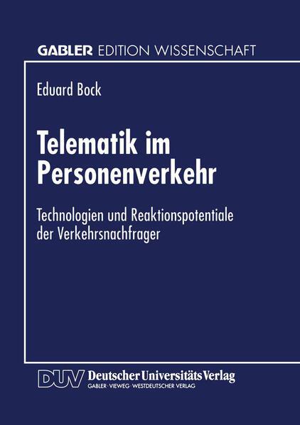 Telematik im Personenverkehr - Coverbild