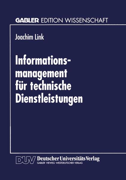 Informations-management für technische Dienstleistungen - Coverbild