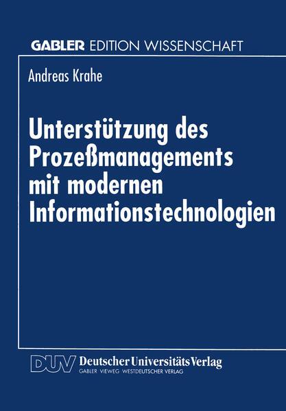 Unterstützung des Prozeßmanagements mit modernen Informationstechnologien - Coverbild