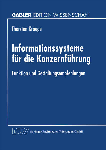 Informationssysteme für die Konzernführung - Coverbild