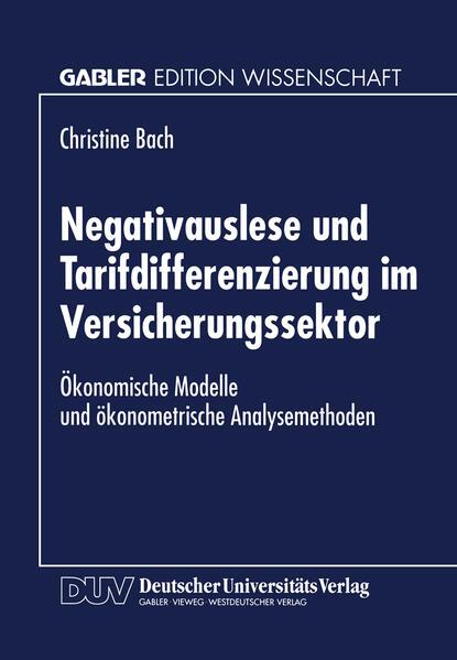 Negativauslese und Tarifdifferenzierung im Versicherungssektor - Coverbild