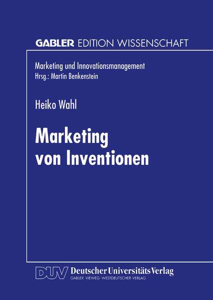 Marketing von Inventionen - Coverbild