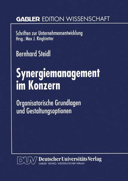 Synergiemanagement im Konzern - Coverbild