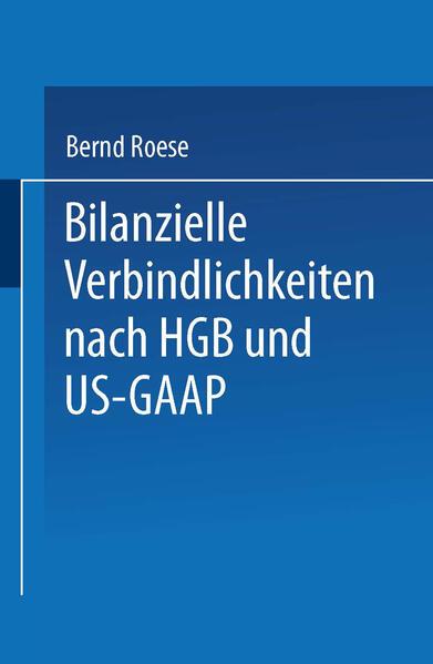 Bilanzielle Verbindlichkeiten nach HGB und US-GAAP - Coverbild