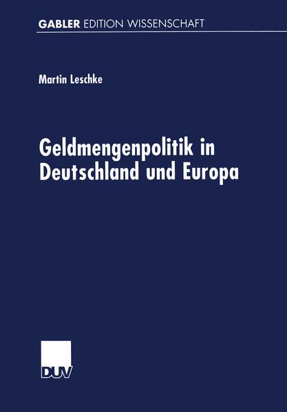 Geldmengenpolitik in Deutschland und Europa - Coverbild