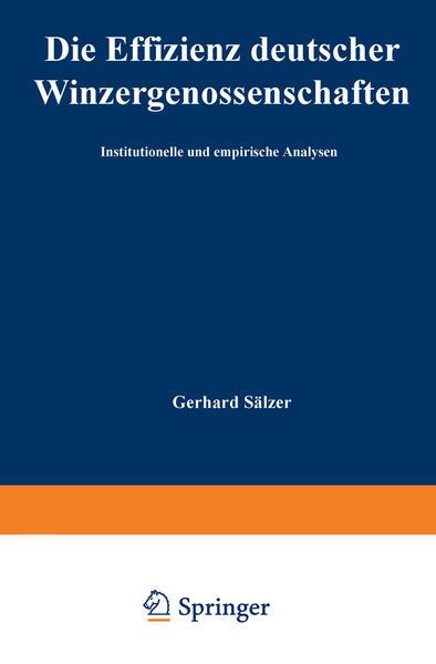 Die Effizienz deutscher Winzergenossenschaften - Coverbild