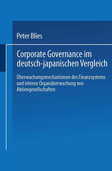 Corporate Governance im deutsch-japanischen Vergleich - Coverbild