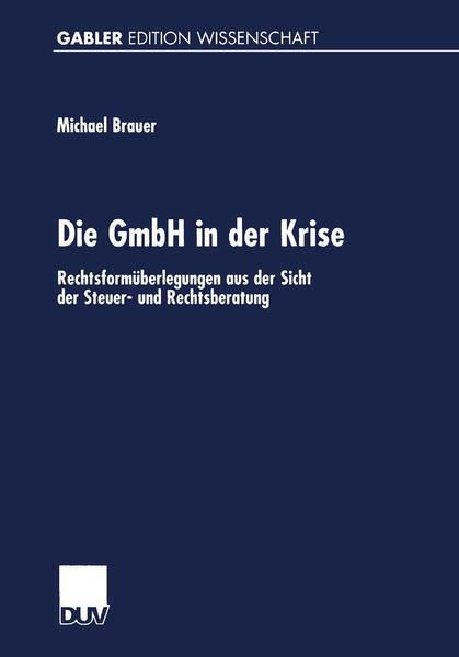 Die GmbH in der Krise - Coverbild