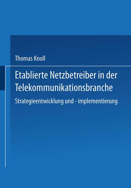 Etablierte Netzbetreiber in der Telekommunikationsbranche - Coverbild