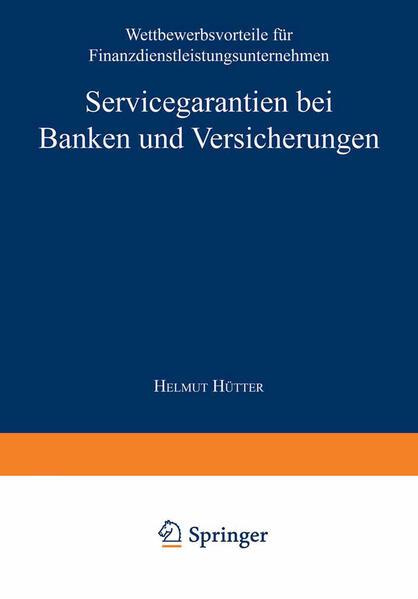 Servicegarantien bei Banken und Versicherungen - Coverbild