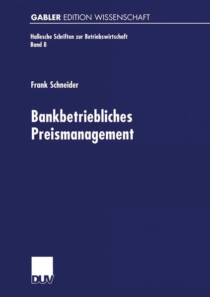 Bankbetriebliches Preismanagement - Coverbild