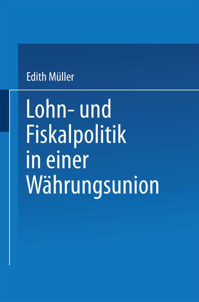 Lohn- und Fiskalpolitik in einer Währungsunion - Coverbild
