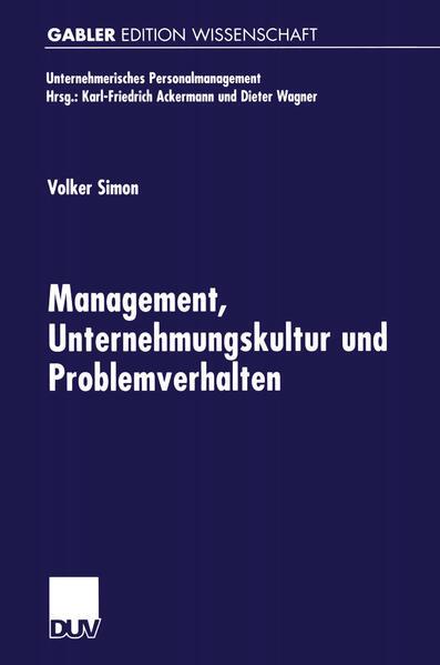 Management, Unternehmungskultur und Problemverhalten - Coverbild