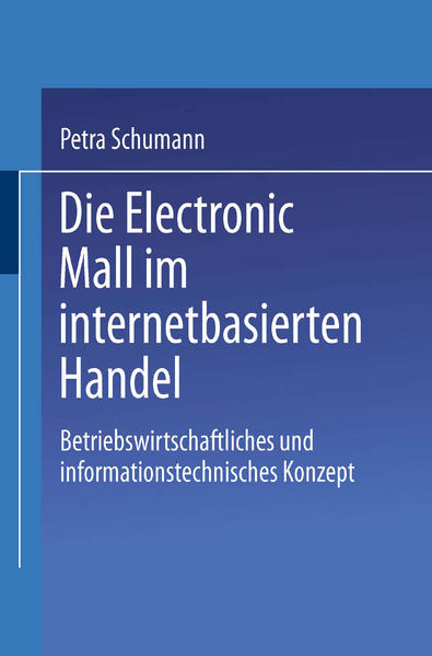 Die Electronic Mall im internetbasierten Handel - Coverbild
