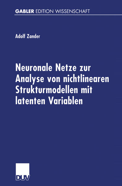 Neuronale Netze zur Analyse von nichtlinearen Strukturmodellen mit latenten Variablen - Coverbild