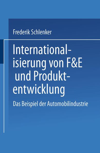 Internationalisierung von F&E und Produktentwicklung - Coverbild