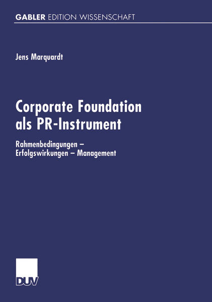Corporate Foundation als PR-Instrument - Coverbild