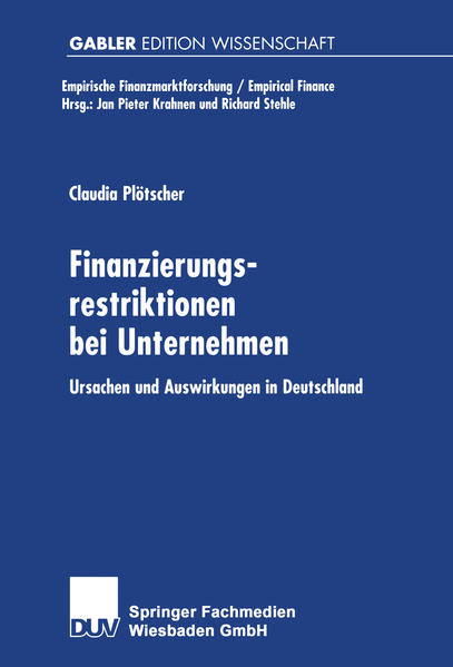 Finanzierungsrestriktionen bei Unternehmen - Coverbild