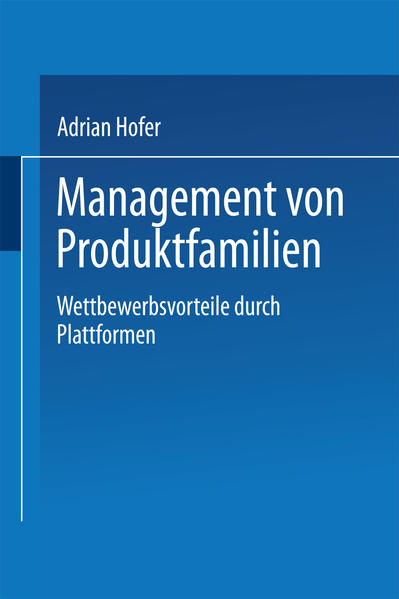 Management von Produktfamilien - Coverbild