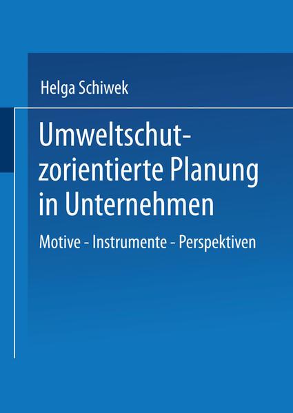 Umweltschutzorientierte Planung in Unternehmen - Coverbild