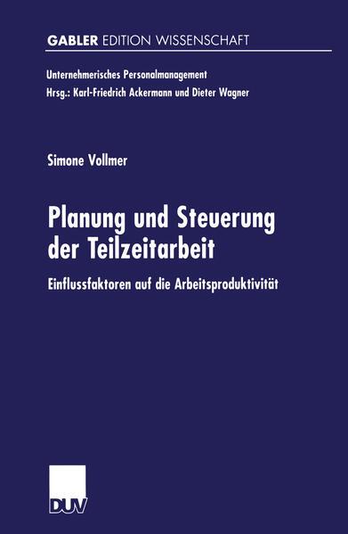 Planung und Steuerung der Teilzeitarbeit - Coverbild