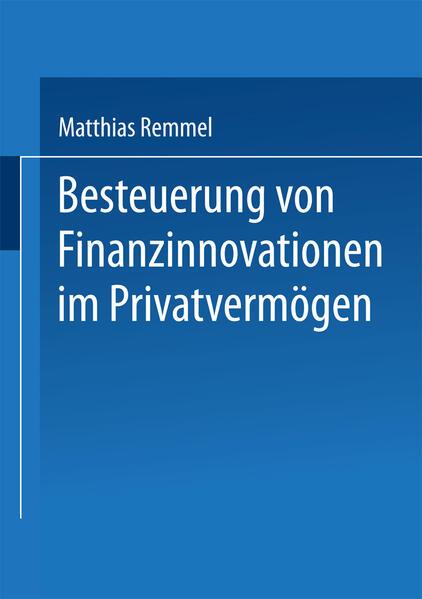Besteuerung von Finanzinnovationen im Privatvermögen - Coverbild