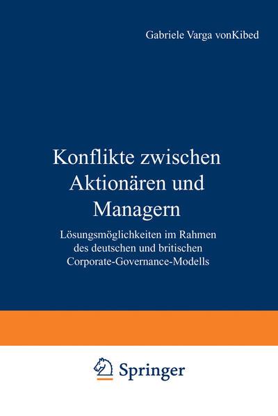 Konflikte zwischen Aktionären und Managern - Coverbild