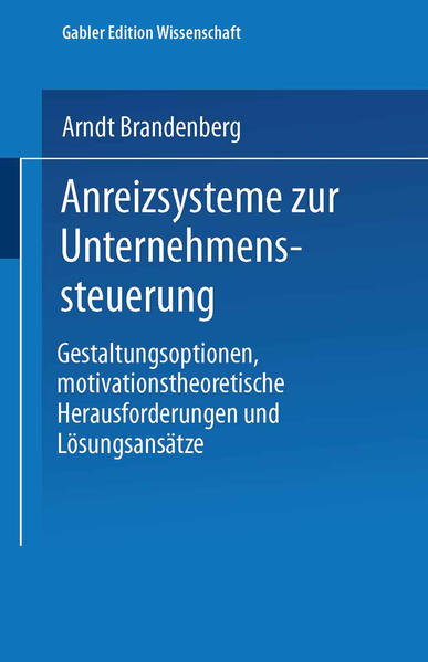 Anreizsysteme zur Unternehmenssteuerung - Coverbild