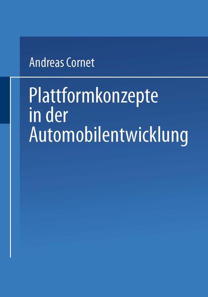 Plattformkonzepte in der Automobilentwicklung - Coverbild