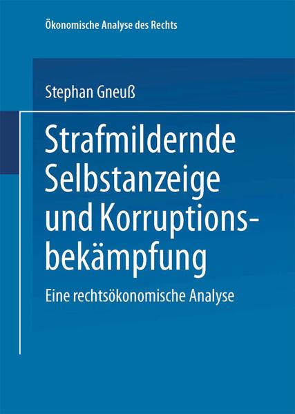 Strafmildernde Selbstanzeige und Korruptionsbekämpfung - Coverbild