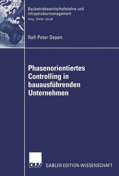 Phasenorientiertes Controlling in bauausführenden Unternehmen - Coverbild