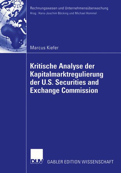 Kritische Analyse der Kapitalmarktregulierung der U.S. Securities and Exchange Commission - Coverbild