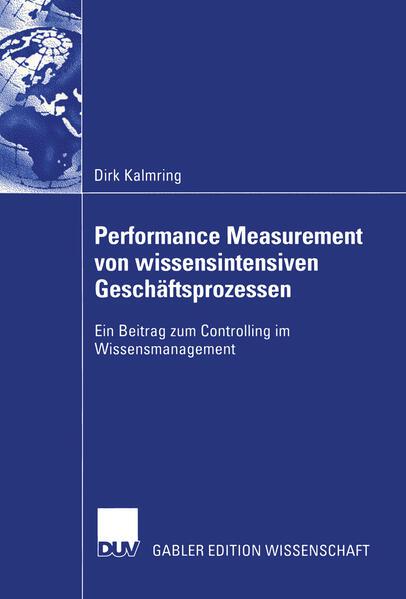 Performance Measurement von wissensintensiven Geschäftsprozessen - Coverbild