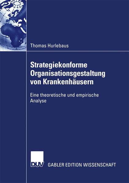 Strategiekonforme Organisationsgestaltung von Krankenhäusern - Coverbild