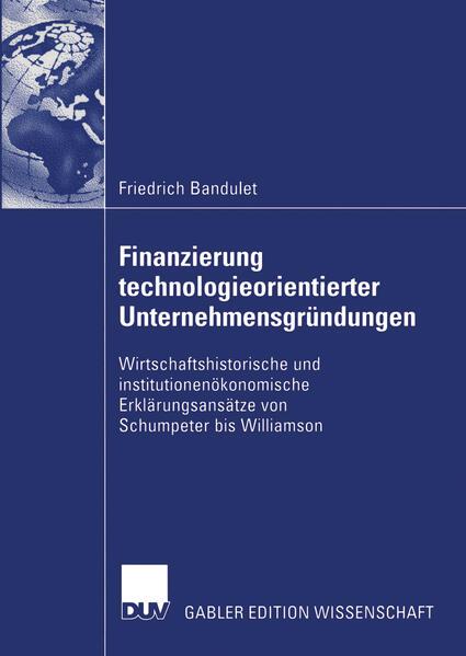Finanzierung technologieorientierter Unternehmensgründungen - Coverbild