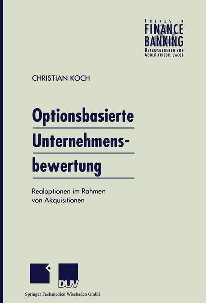 Optionsbasierte Unternehmensbewertung - Coverbild