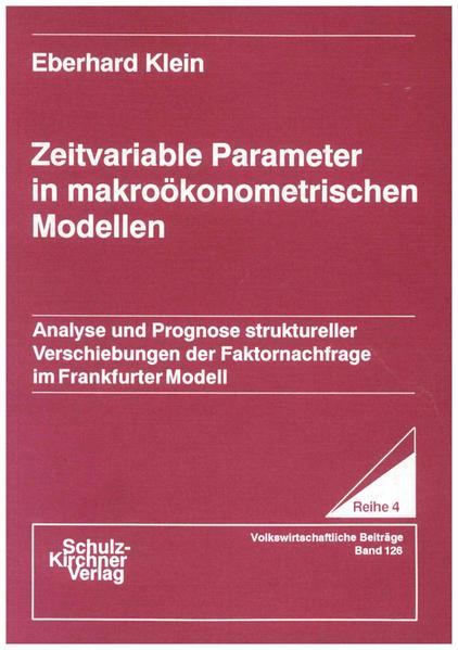 Zeitvariable Parameter in makroökonometrischen Modellen - Coverbild