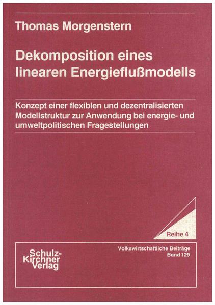 Dekomposition eines linearen Energieflussmodells - Coverbild